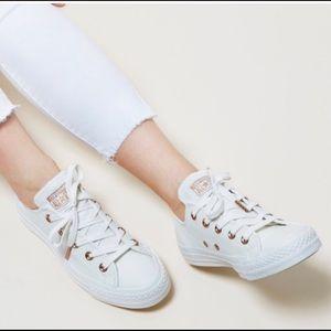 converse white gold leather \u003e Clearance